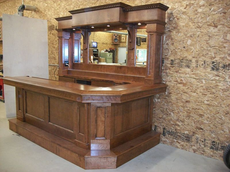Standard bar outfit for Home bar dimensions